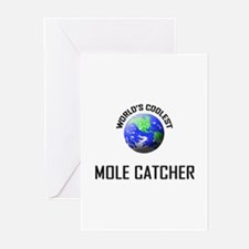 World's Coolest MOLE CATCHER Greeting Cards (Pk of