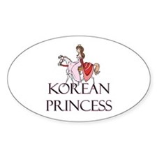 Korean Princess Oval Decal