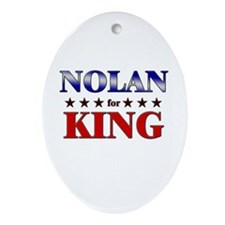 NOLAN for king Oval Ornament