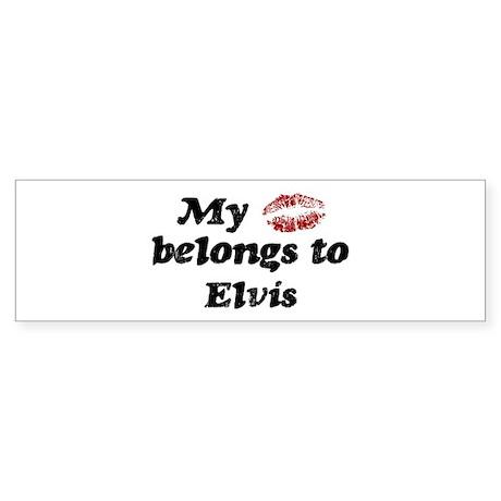 Kiss Belongs to Elvis Bumper Sticker