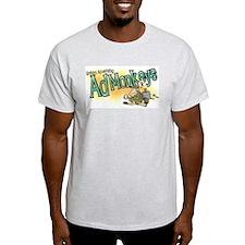 Ad Monkeys Ash Grey T-Shirt