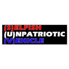 SUV in RW&B Bumper Bumper Sticker