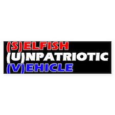 SUV in RW&B Bumper Car Sticker