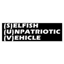 SUV Bumper Bumper Sticker