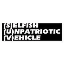 SUV Bumper Car Sticker