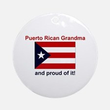Proud Puerto Rican Grandma Ornament (Round)