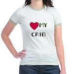 LOVE MY CRIB Jr. Ringer T-Shirt