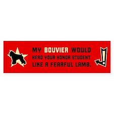 Bouvier Herd Honor Student Bumper Bumper Bumper Sticker