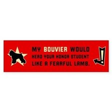 Bouvier Herd Honor Student Bumper Bumper Sticker