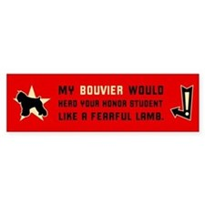 Bouvier Herd Honor Student Bumper Car Car Sticker