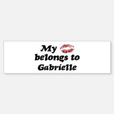 Kiss Belongs to Gabrielle Bumper Bumper Bumper Sticker