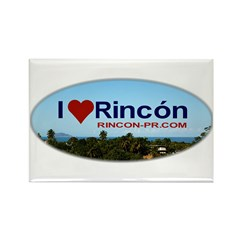 Rincon Oval Logo Rectangle Magnet (100 pack)