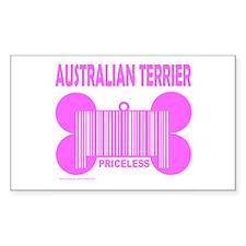 AUSTRALIAN TERRIER PRICELESS Rectangle Decal