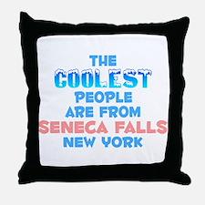 Coolest: Seneca Falls, NY Throw Pillow