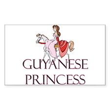 Guyanese Princess Rectangle Decal