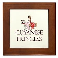 Guyanese Princess Framed Tile