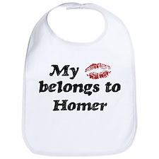Kiss Belongs to Homer Bib