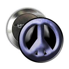 Metallic Blue Peace Sign (button)