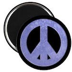 Watercolor Blue Peace Sign Magnet