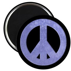 Watercolor Blue Peace Sign Magnet