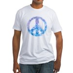 Watercolor Peace Sign Fitted T-Shirt