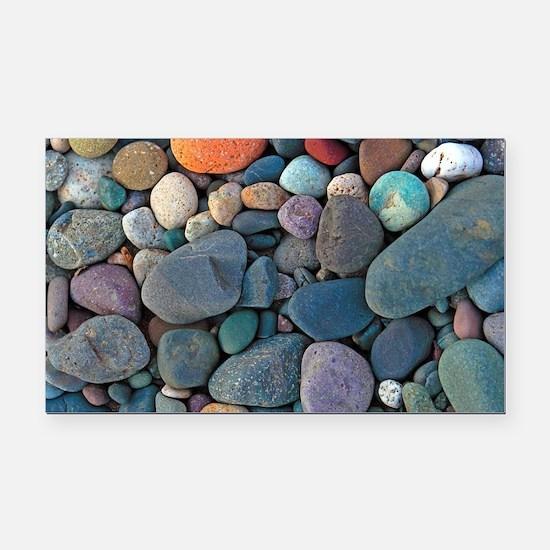 Beach Rocks Rectangle Car Magnet