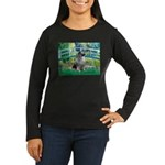 Bridge / Keeshond Women's Long Sleeve Dark T-Shirt