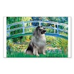 Bridge / Keeshond Sticker (Rectangle)