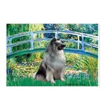 Bridge / Keeshond Postcards (Package of 8)
