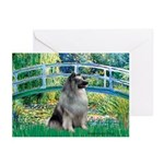 Bridge / Keeshond Greeting Cards (Pk of 10)