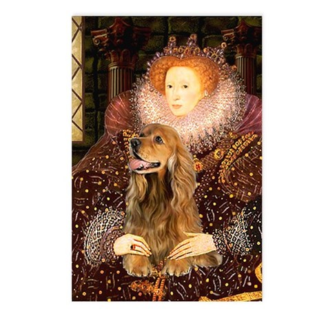 Queen / Cocker Spaniel (br) Postcards (Package of