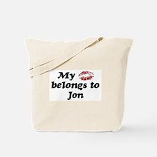 Kiss Belongs to Jon Tote Bag