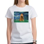 Lilies (5)/Cocker (br) Women's T-Shirt