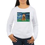 Lilies (5)/Cocker (br) Women's Long Sleeve T-Shirt