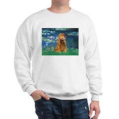 Lilies (5)/Cocker (br) Sweatshirt