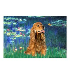 Lilies (5)/Cocker (br) Postcards (Package of 8)