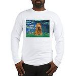 Lilies (5)/Cocker (br) Long Sleeve T-Shirt