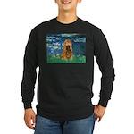 Lilies (5)/Cocker (br) Long Sleeve Dark T-Shirt