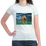Lilies (5)/Cocker (br) Jr. Ringer T-Shirt