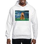 Lilies (5)/Cocker (br) Hooded Sweatshirt