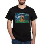 Lilies (5)/Cocker (br) Dark T-Shirt