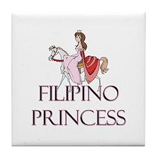 Filipino Princess Tile Coaster
