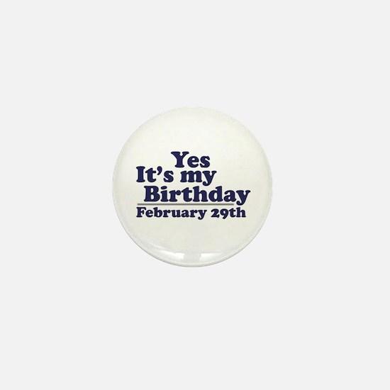 February 29th Birthday Mini Button
