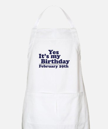 February 29th Birthday BBQ Apron
