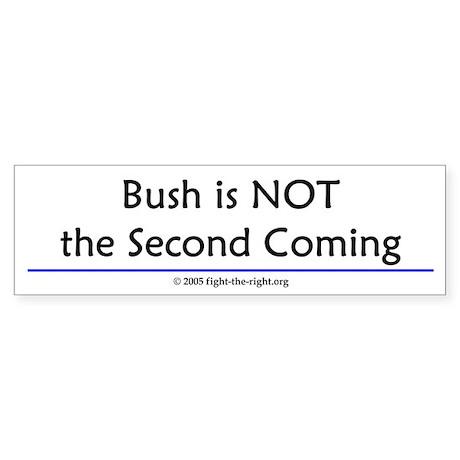 Second Coming (bumper sticker)