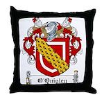 O'Quigley Family Crest Throw Pillow