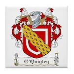 O'Quigley Family Crest Tile Coaster