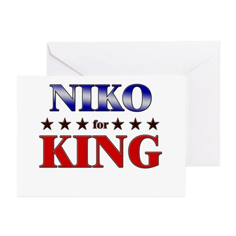 NIKO for king Greeting Cards (Pk of 20)