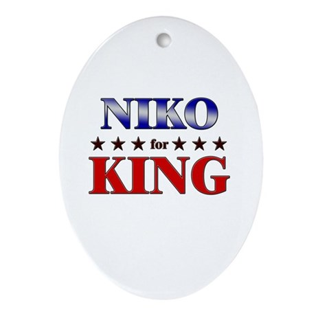 NIKO for king Oval Ornament