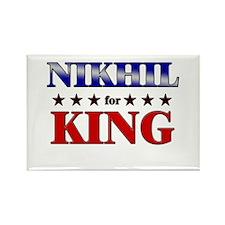 NIKHIL for king Rectangle Magnet